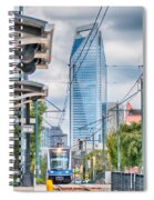 Charlotte North Carolina Light Rail Transportation Moving System Spiral Notebook