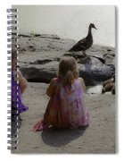 Children At The Pond 3 Spiral Notebook