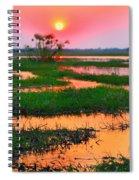 Chobe River Sunset Spiral Notebook