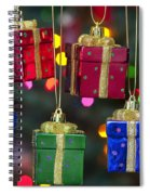 Christmas Present Ornaments Spiral Notebook