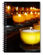 Church Candles Spiral Notebook