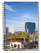 City Of Rotterdam In Netherlands Spiral Notebook