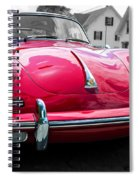 Classic Red P Sports Car Spiral Notebook