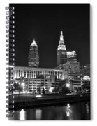 Cleveland In Black And White Spiral Notebook