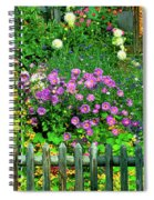 Close-up Of Flowers, Muren, Switzerland Spiral Notebook