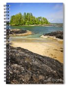 Coast Of Pacific Ocean On Vancouver Island Spiral Notebook