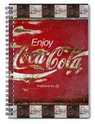 Coca Cola Signs Spiral Notebook