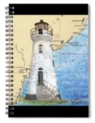Cockspur Island Lighthouse Ga Nautical Chart Map Art Cathy Peek Spiral Notebook
