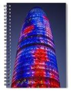Colorful Elevation Of Modern Building Spiral Notebook