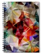 Colorful Geometric Abstract Spiral Notebook