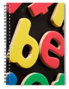 Colorful Letters Spiral Notebook