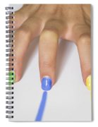 Colorful Nails Spiral Notebook