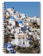 Colorful Oia Spiral Notebook