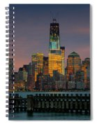 Construction Of The Freedom Tower Spiral Notebook