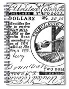 Continental Banknote, 1776 Spiral Notebook