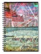 2 Corinthians 3 17 Spiral Notebook
