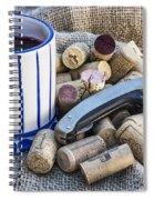 Corks With Corkscrew Spiral Notebook