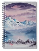 Crimson Frost Oval Spiral Notebook