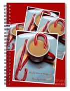 Cup Of Christmas Cheer - Candy Cane - Candy - Irish Cream Liquor Spiral Notebook