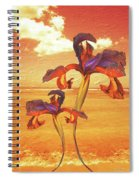 Dancing In The Sunset Spiral Notebook