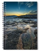 Day's End At Scoodic Point Spiral Notebook