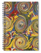 Decorative End Paper Spiral Notebook