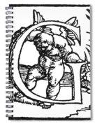 Decorative Initial G Spiral Notebook