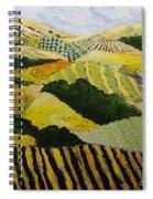 Delta Fields Spiral Notebook