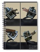 Derailed Boxcar Spiral Notebook