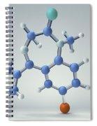 Diazepam Molecule Spiral Notebook