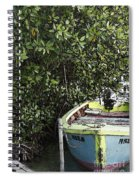 Docked By The Mangrove Trees Spiral Notebook