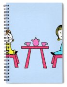 Doll Tea Party Spiral Notebook