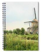 Dutch Landscape With Windmills Spiral Notebook