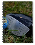 Earth Golf Ball And Golf Club Spiral Notebook
