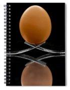 Egg On Top Of Forks Spiral Notebook