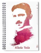 electric generator patent art Nikola Tesla Spiral Notebook