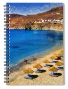Elia Beach In Mykonos Island Spiral Notebook