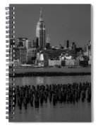 Empire State Building Dressed Up In Pastels Spiral Notebook