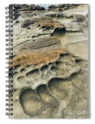 Eroded Sandstone Cliff Along The Ocean Spiral Notebook