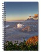 eruption at Gunung Bromo Spiral Notebook