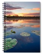 Everglades At Sunset Spiral Notebook