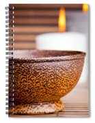Exotic Bowl And Candles Spiral Notebook