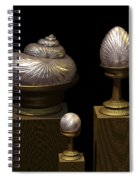 Faberge Style White Gold Spiral Notebook