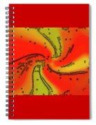 Fantasy In Red Spiral Notebook