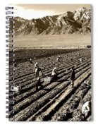 Farm Workers And Mt Williamson 1940s Spiral Notebook