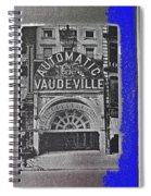 Film Homage Automatic 1 Cent Vaudeville Peep Show Arcade C.1890's New York City Collage 2013 Spiral Notebook