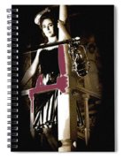 Film Noir Dance Hall Girl Looks Down On Robert Mitchum The King Of Noir Filming Old Tucson Az 1968 Spiral Notebook