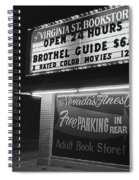 Film Noir Farewell My Lovely 1975 Brothel Guide Virginia St. Bookstore Reno Nevada 1979-2008 Spiral Notebook