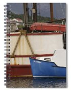 2 Fishing Boats At The Dock Spiral Notebook