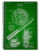 Fishing Reel Patent 1906 - Green Spiral Notebook